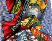 Moonlight Over Spring - Medium or small Silky Faille scarf  -   women's fashion  -  from original batik -