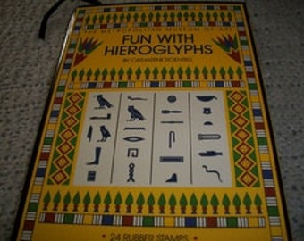 Fun With Hieroglyphs Rubber Stamp Set