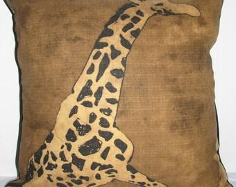 Giraffe Print Pillow Cover