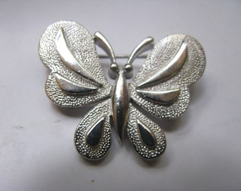 TRIFARI silver butterfly scatter pin