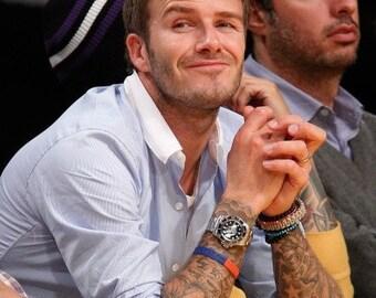 Men's Minimalist Fortune , Serenity Bracelet with Semi Precious Onyx, Bronze Hematites, Violet Jade, Filigree Copper- David Beckham Bracelet