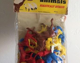Multiple toymakers vintage 1967 Plastic Animal Figurines
