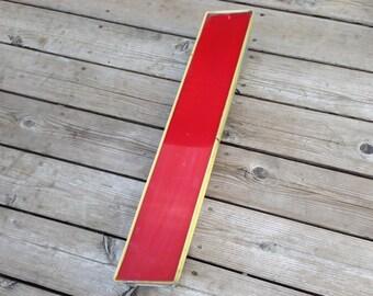 l - Reclaimed vintage letter - red gold - XL