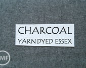 One Yard CHARCOAL Yarn Dyed Essex, Linen and Cotton Blend Fabric from Robert Kaufman, E064-1071