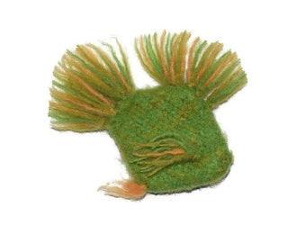 Cat Toy - Blooper - Organic Catnip Stuffed Fish  - Hand Knit Felted Wool - No polyfil, Pure Herb Stuffing