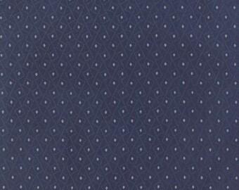 Fabric by the Yard-Blue Barn by Laundry Basket Quilts for Moda - Farm Ladder Dark Blue