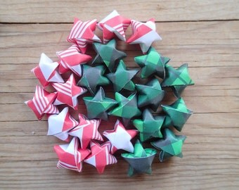 Christmas Mix #2, Origami Stars, set of 24.