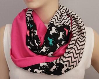 Infinity scarf,Loop scarf,   patchwork  scarf