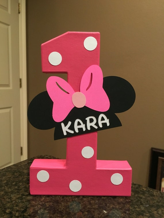 Minnie Mouse Custom Name Letters Price Is Per Number