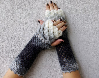 Fingerless Gloves Crocheted mittens Womens gloves Winter gloves, arm warmers, wrist warmers Winter arm warmers Ladies gloves Long gloves