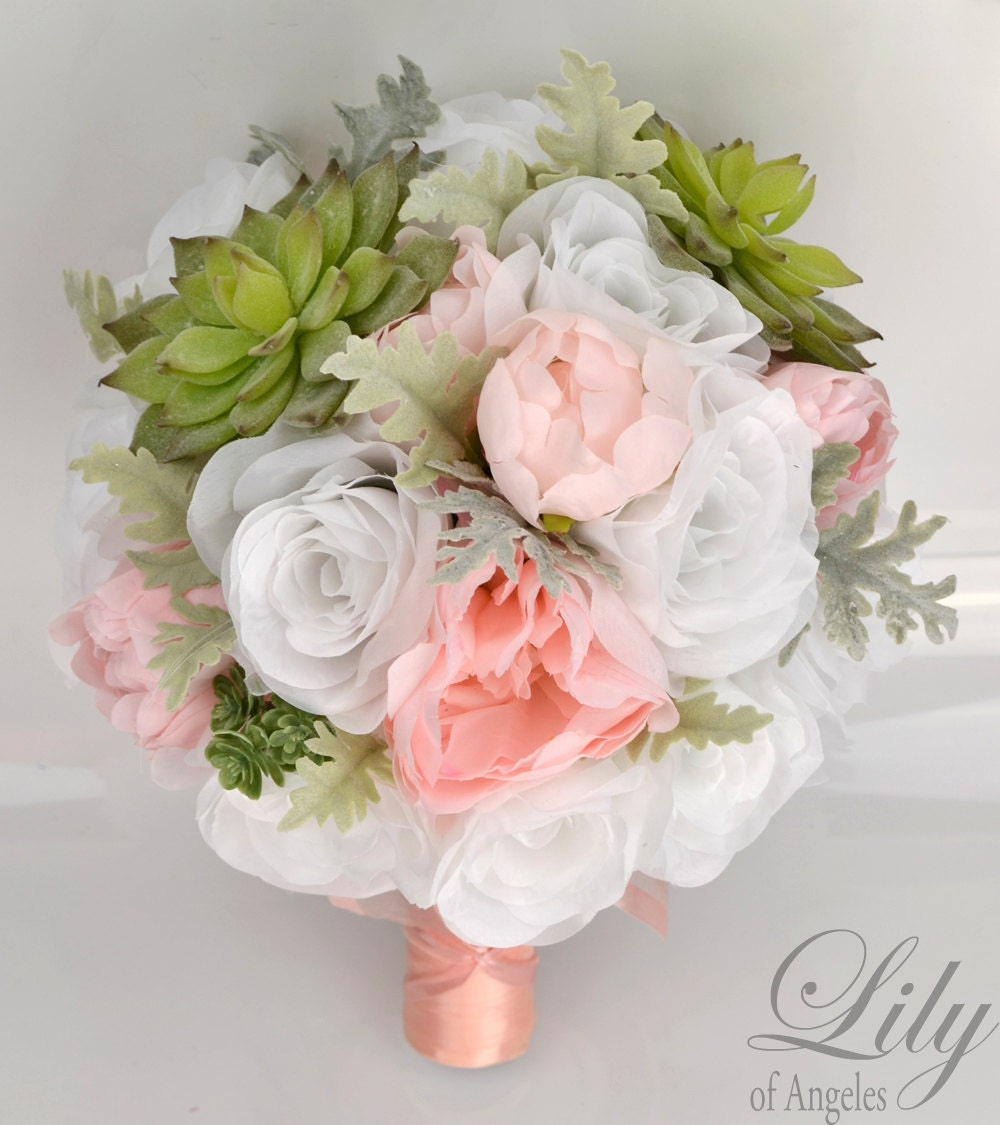 wedding bouquet packages wedding bridal bouquet 17 package silk flowers 8472