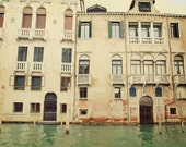 Venice Photo. Fine Art Travel Photography. Venice Waterways. Dreamy Whimsical. Italy Wall Art. Home Décor. Aqua Water. Travel Print.