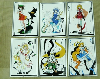 Touhou Project Art Sticker 6Pcs. Youmu, Chen, Ran Free shipping