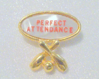 Vintage Perfect Attendance Bowling Award Pin