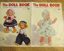"RARE 1950's ""The Doll Book"" Crochet Pattern - Fancy Dress Patterns (for 7 - 8"" / 15"" / 22"" Doll / Baby Doll) - Coats & Clark No.280"