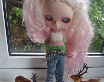 Blythe Thrift shop find Jeans & Jumper (BD100615)