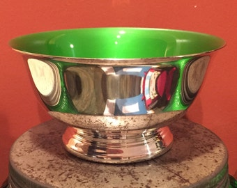 Reed and Barton 101 Silver Plated Bowl with Green Interior