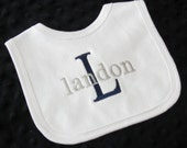 Personalized Bib Baby Boy --   Baby Boy Gift -- Shower Gift -- Newborn Gift