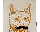 Meowstache - Eco-Friendly Tote Bag