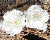 White Flower Curtain Tie Backs,