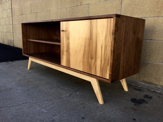 mid century modern credenza tv console tv stand by monkehaus. Black Bedroom Furniture Sets. Home Design Ideas