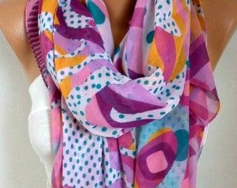 Polka Dot Cotton Scarf, Summer Scarf, Beach Shawl Cowl Oversized Wrap Gift Ideas For Her Women Fashion Accessories, Birthday Gift