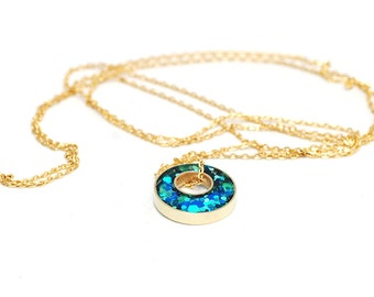 Glitter Box collection Long Layering Necklace - Indigo