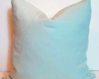 Mint Green Pillow P Kaufmann Basketweave Pillow Mint Green Slubby Basket Mist Solid Mint Pillow Solid Mint Green Pillow