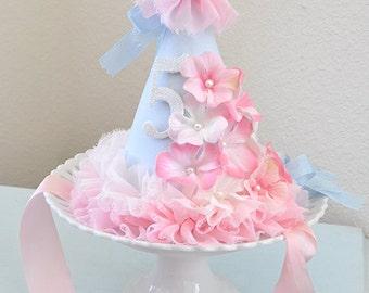 Girl's Flower Garden Shabby Chic Birthday Hat