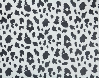 Vintage Wallpaper by the Yard 80s Retro Wallpaper - 1980s Black and White Dalmation Print