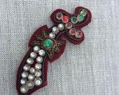 Vintage jeweled sword appliqué
