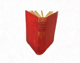 Antque Lorna Doone Book, Romance of Exmoor, English Literature, Literary Classic, R. D. Blackmore,  1900s Book, Literary Fiction
