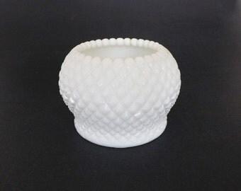 Vintage Westmoreland Milkglass Bowl, Vase, Northwood Glass, Milk Glass Vase, White Milkglass Hobnail Bowl, White Decor, Home Decor