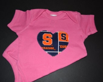 Syracuse University Heart Colored Bodysuit or T-Shirt