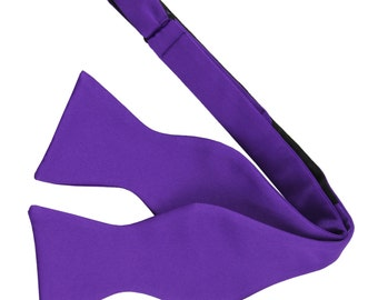 Men's Solid Purple Self-Tie Bowtie, for Formal Occasions