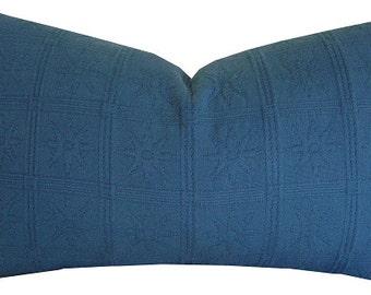 Blue Pillows - Blue Accent Pillows - Blue Decorative Pillows - Blue Pillow Cover - Blue LUMBAR Pillow - Cushion Covers - Blue Throw Pillow