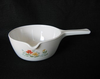 Vintage Corning Ware P-89-B Menutte Sauce Pan w/Pour Spout in  Autumn Meadow Design
