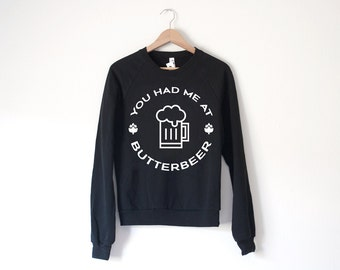 Butterbeer Sweatshirt - Made in USA - by So Effing Cute - inspired by Harry Potter