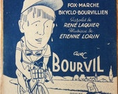 Vintage French musical sheet music A Bicyclette