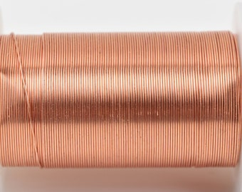 COPPER CRAFT WIRE, Tarnish Resistant Craft Wire, wire wrapping, 24 gauge, 24 ga copper wire, 30 yards (90 feet) spool wir0049