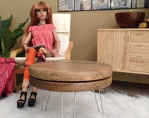 1:6 Scale Midcentury Modern Coffee Table for 12 inch doll Dioramas and Dollhouses