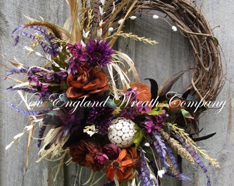 Fall Wreath, Autumn Wreath, Fall Woodland Wreath, Thanksgiving Wreath, Harvest Wreath, Fall Designer Wreath, Lodge Look Fall Wreath