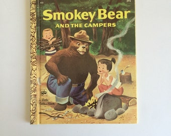 1971 Smokey Bear And The Campers A Little Golden Book