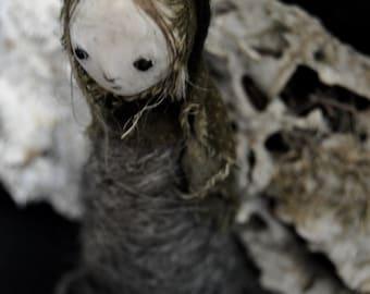Grottr - The Moss Sucker- OOAK Art Doll