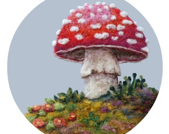 Woodland Toadstool #3 - High Quality Giclee Print - 5x7