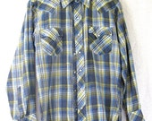 on sale Vintage Western Shirt, Snap Shirt, Plaid Shirt, Cowboy Clothing, Plaid Western Shirt, Western Fashion, VIntage Clothing, Western Clo