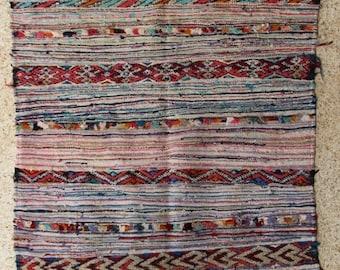 "240X145  cm ( 7' 9"" x 4' 8"") FREE SHIPPING worldwide KL28207 vintage berber kilim rug, flat rug, moroccan rugs , rag rug,morocco carpets"
