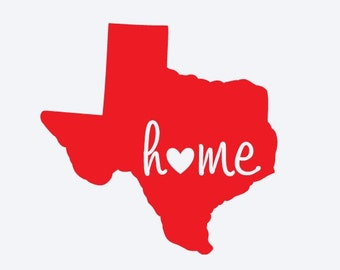 Texas Home Decal Etsy - Custom car decals houston   how to personalize