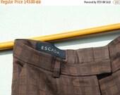 SALE Vintage 80's  ESCADA Pants Checkered Wide leg pants S