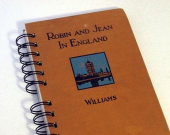 1929 ENGLAND TRAVEL JOURNAL Handmade Journal Vintage Upcycled Book Travel England Journal